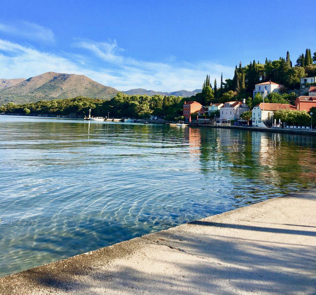 a waterside scene of Kolocep Island in Croatia
