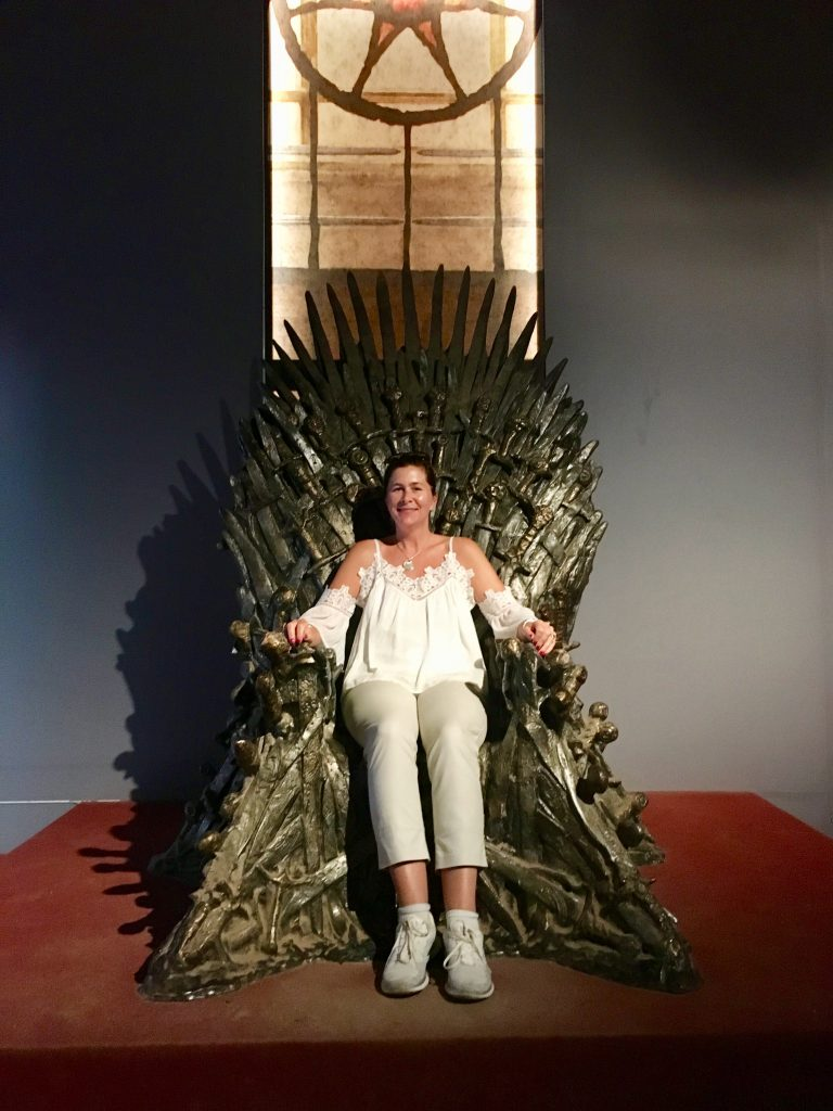 Me sitting in the Game of Thrones seat in Lokrum Island