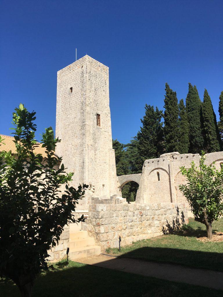 the abandoned monastery on Lokrum island in Dubrovnik