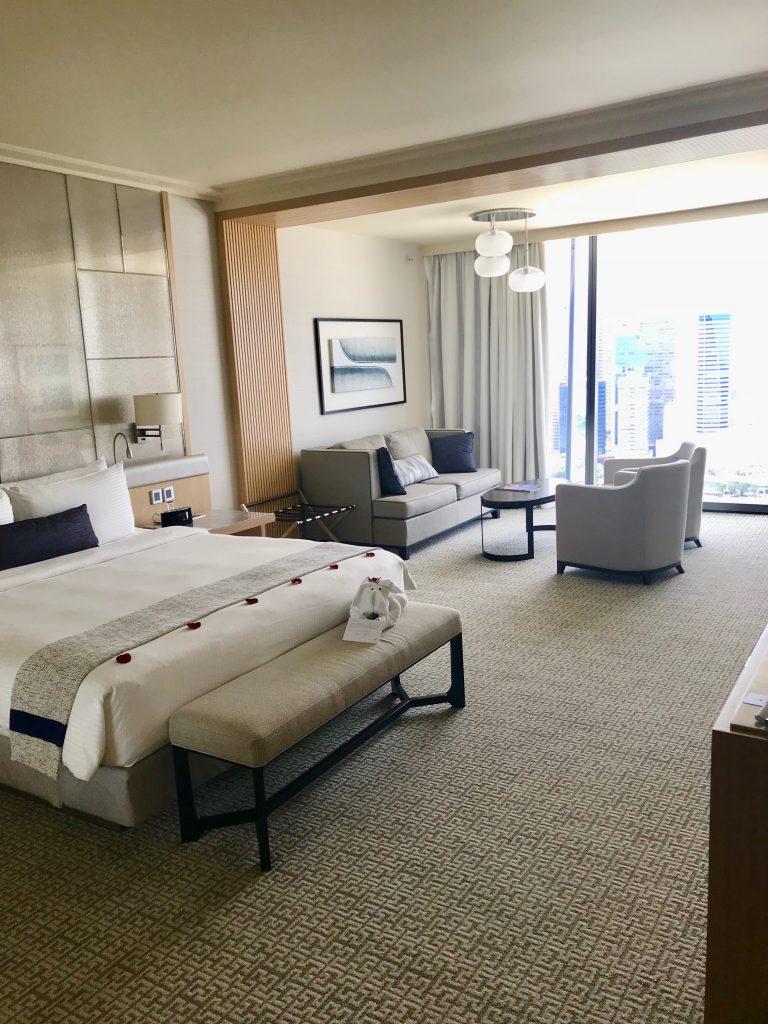 Bedroom in the Marina Bay Sands Resort