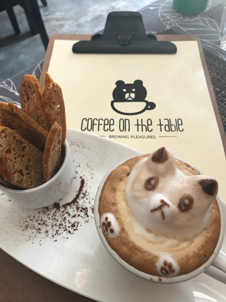 coffee formed into an animal