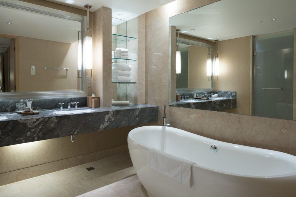 Bathroom in the Marina Bay Sands Resort