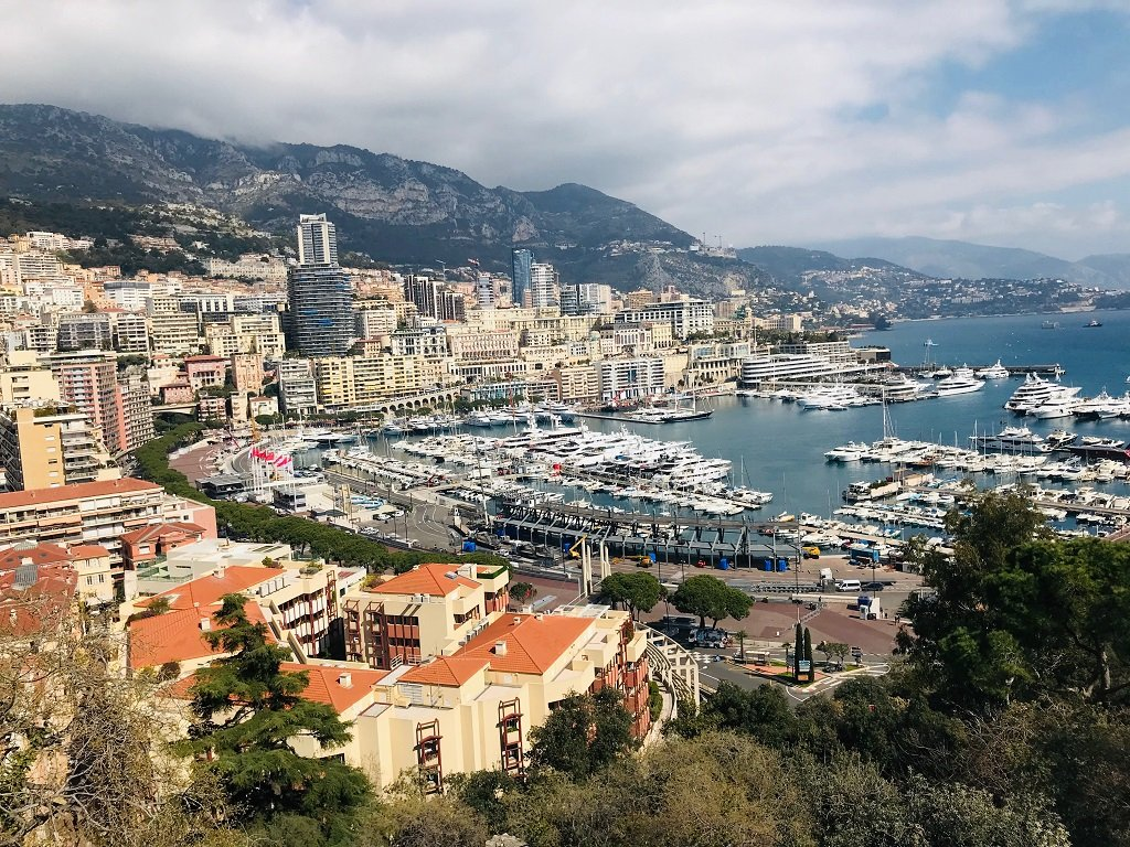 A view of Monaco from the Prince's Palace