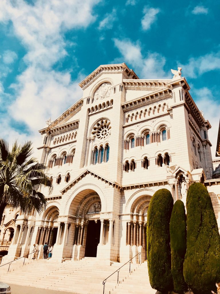 Monaco Cathedral in the French Riviera. Resting place of Prince Rainier and Princess Grace