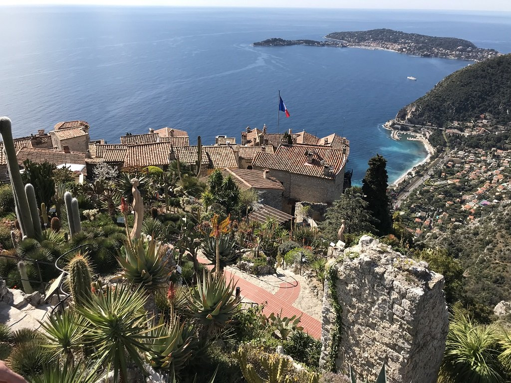 views from Le Jardin Exotique in Eze
