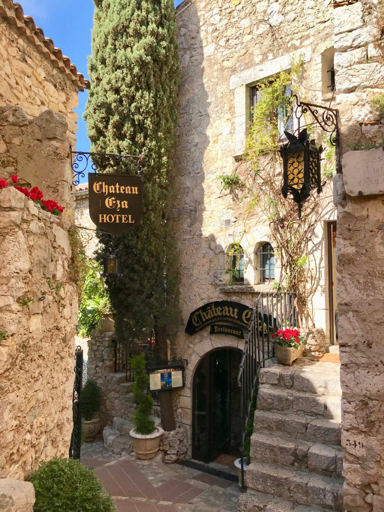 Chateau Eza in the village Eze on The French Riviera