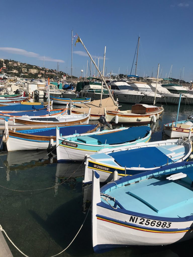 Fishing boats in the harbour at Villafranche on the French Riviera