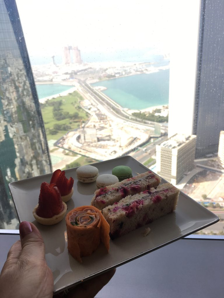 afternoon tea taken in the Etihad towers