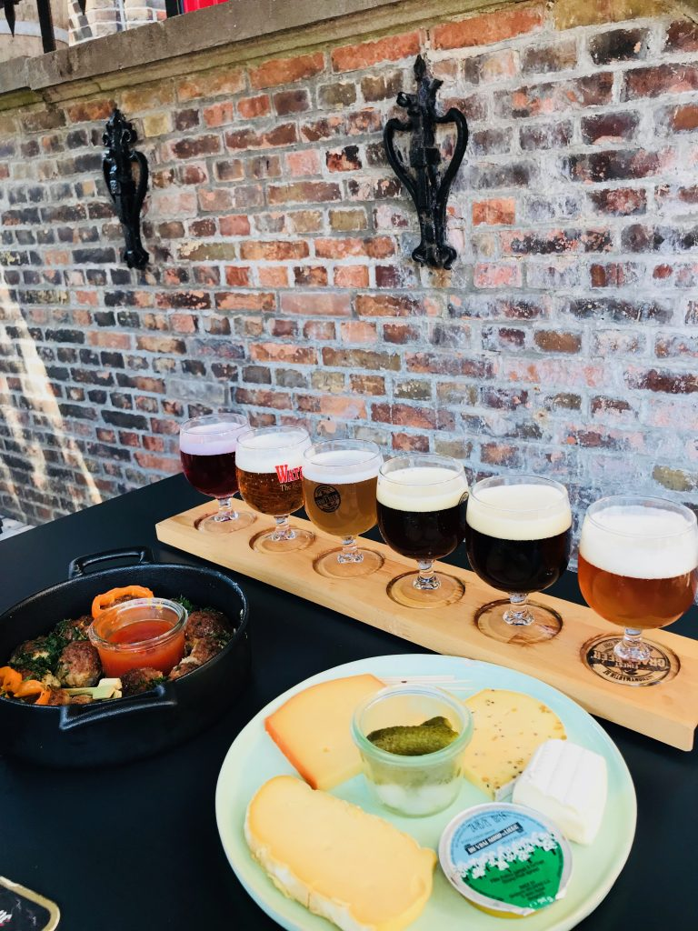 cheese and Beer Platter