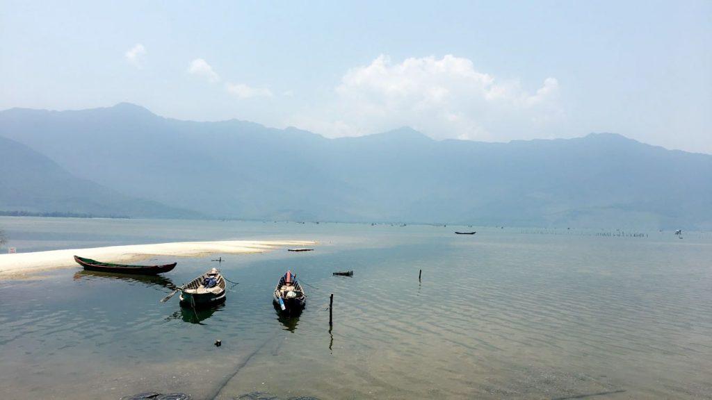Three Boats on Lap An Lagoon