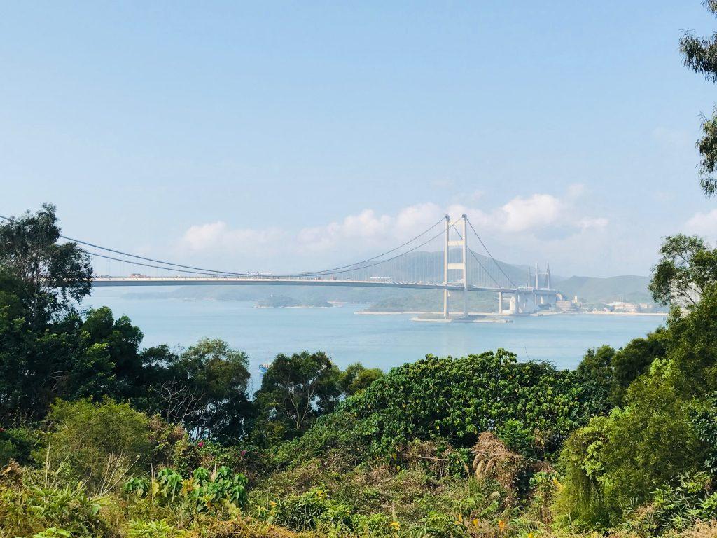the tsing ma bridge from Hong Kong to Lantau island