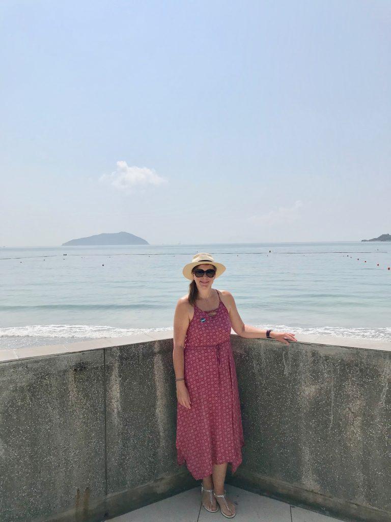 Angela on the Lantau beach