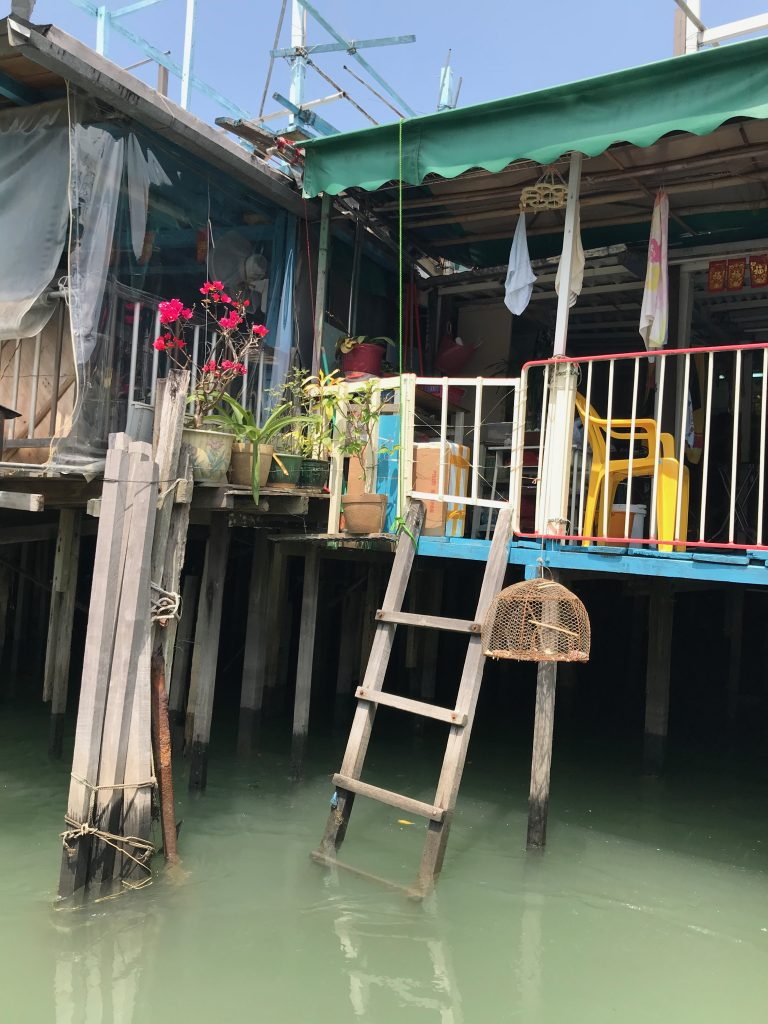Local Stilted houses in Tai O village
