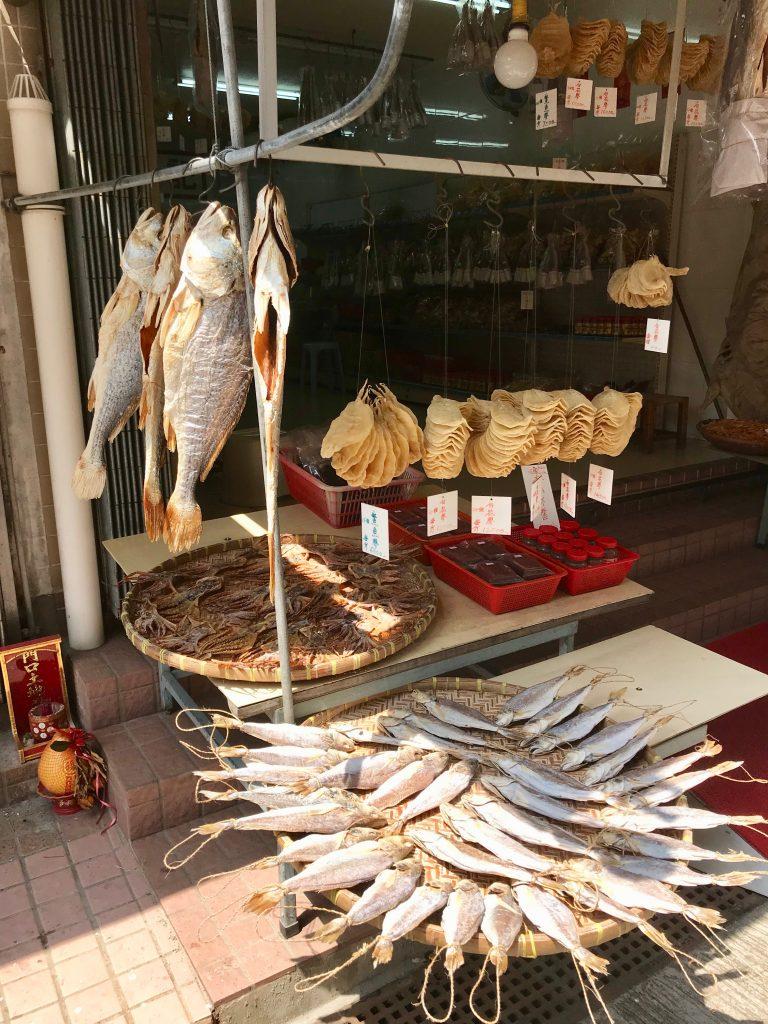 A Dried Fish Shop in Tai O village