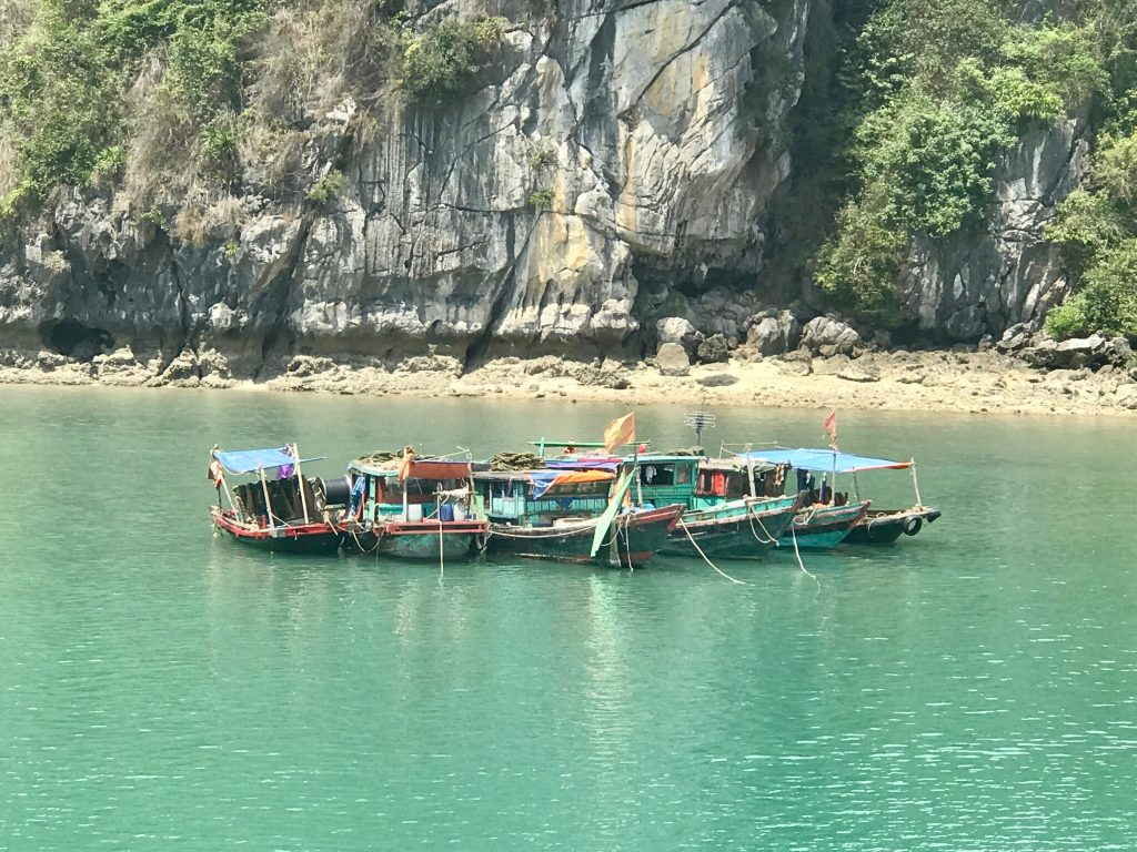Colourful Vietnamese fishing boat