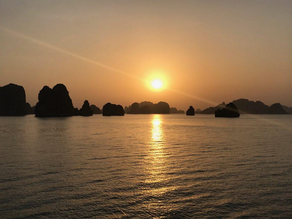 Sunset over Bai Tu Long Bay