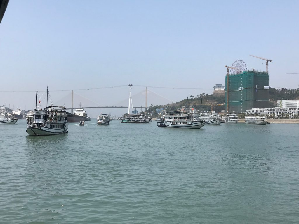 Lots of boats in Halong Bay