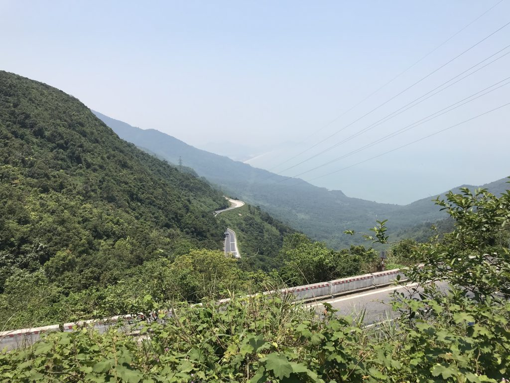view of the Hai Van Pass from the roadside