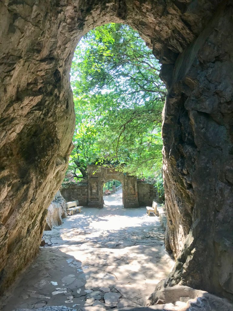 Cave entrance in the marble mountains