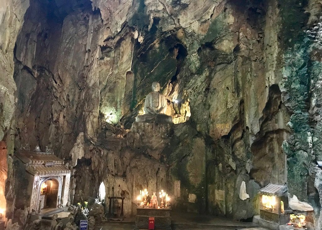 Interior of a cave inside the marble mountains