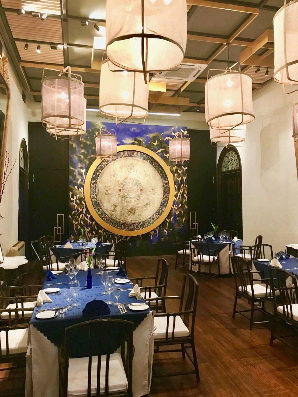 Interior of indigo restaurant