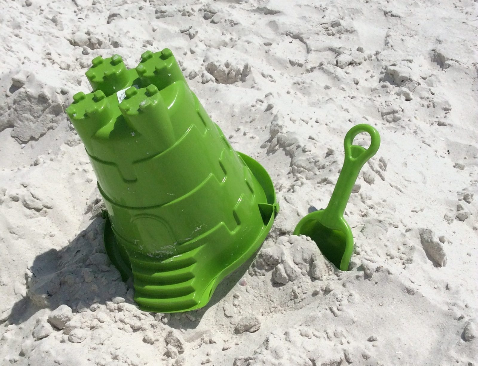 Staycation in your own country on the beach with a bucket and spade