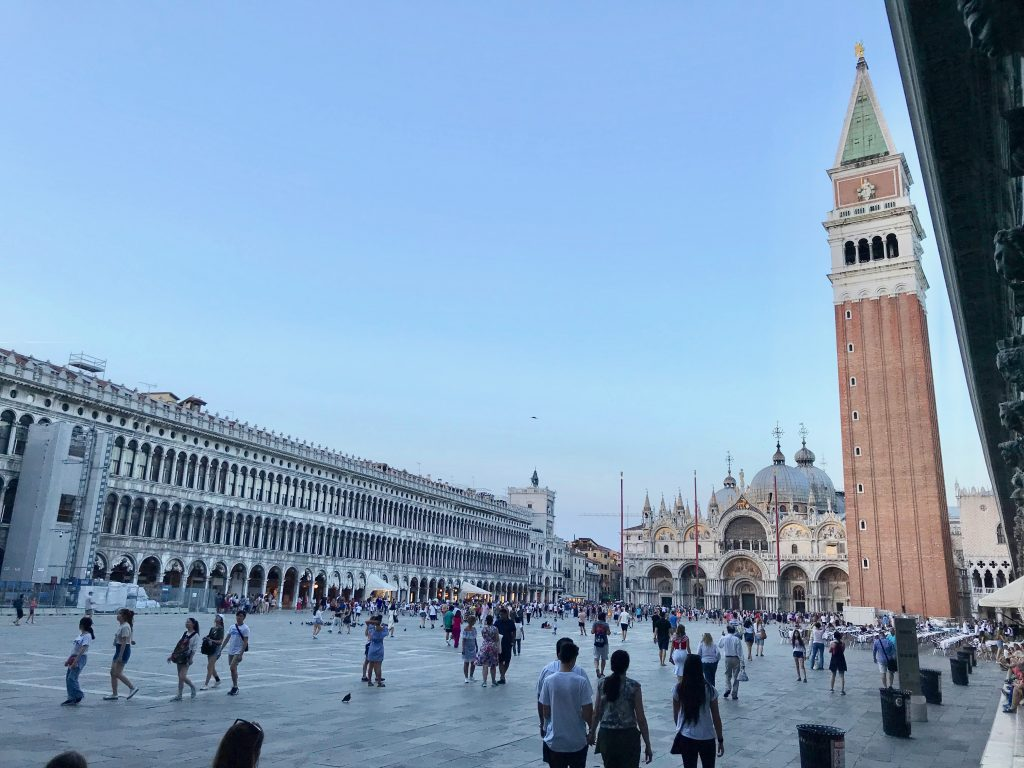 Panoramic view of St Mark's Square, Venice.