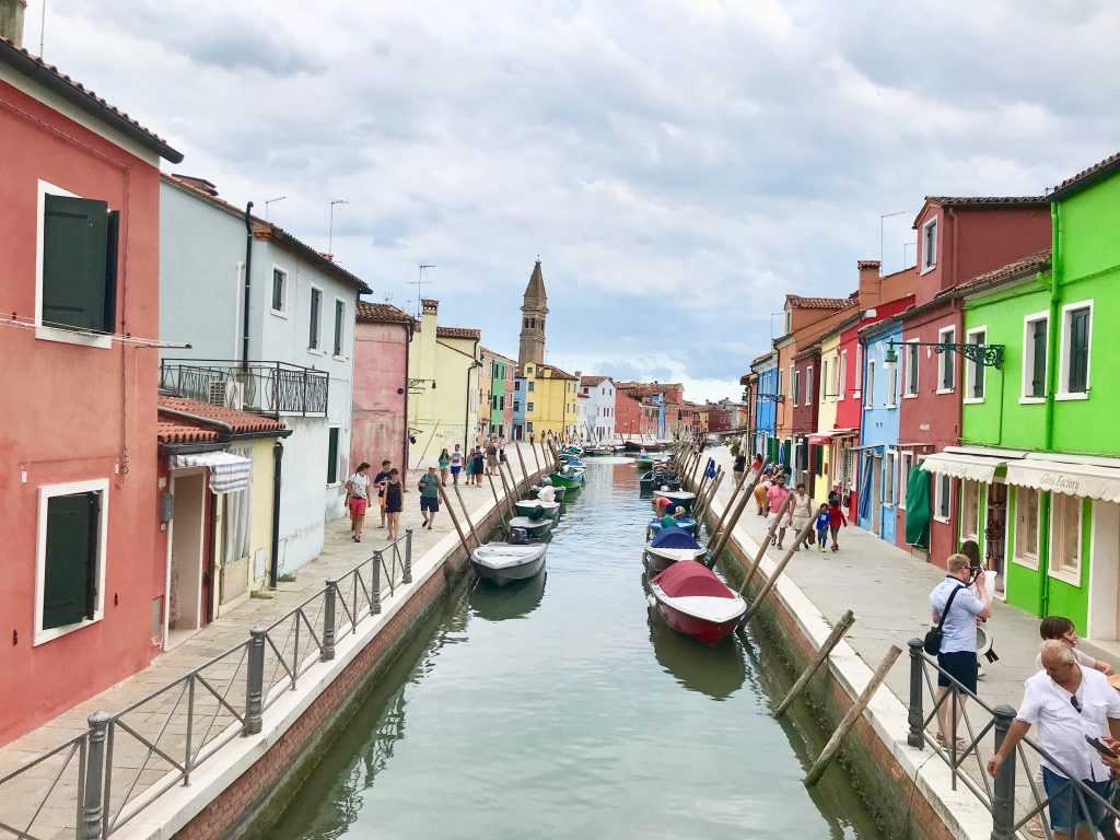 The colourful houses in Burano