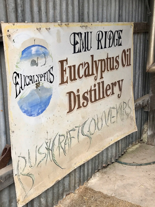 Sign for Emu ridge Distillery kangaroo island