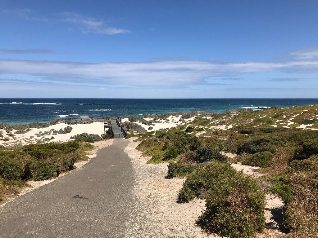 Seal Bay walk to the beach