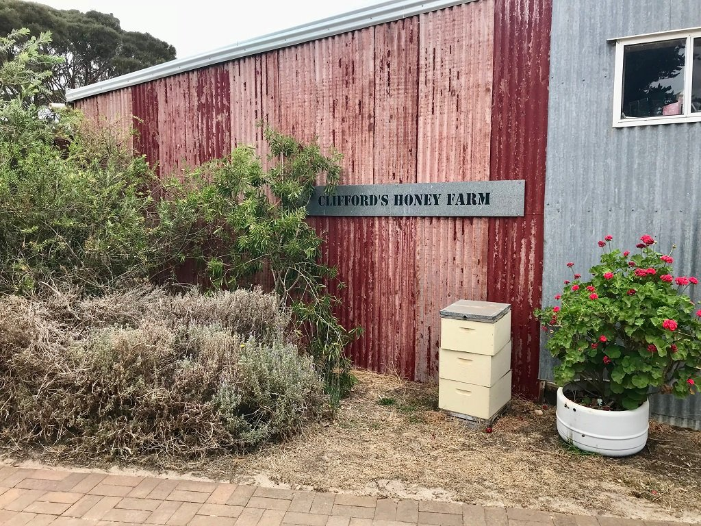building at Cliffords honey farm