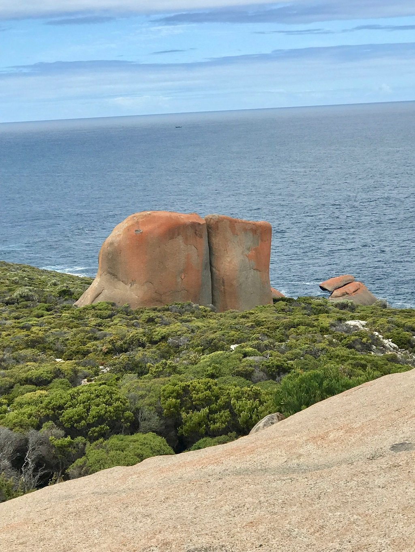 a rock in flinders range