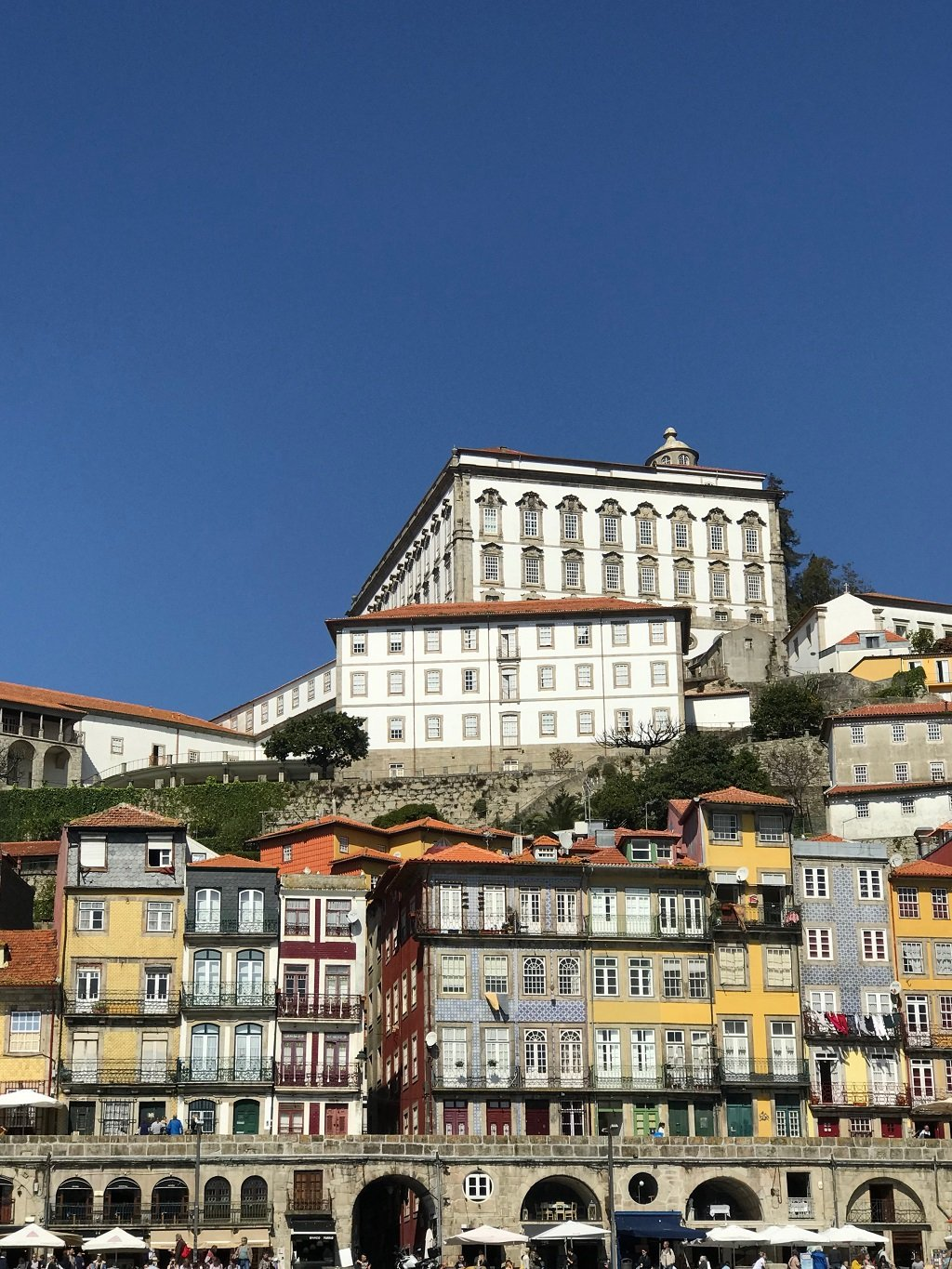 Porto as viewed from a boat on the Duoro.