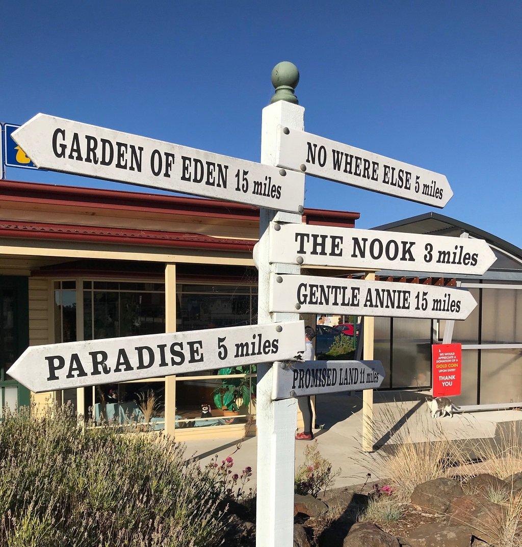 Tasmanian sign post