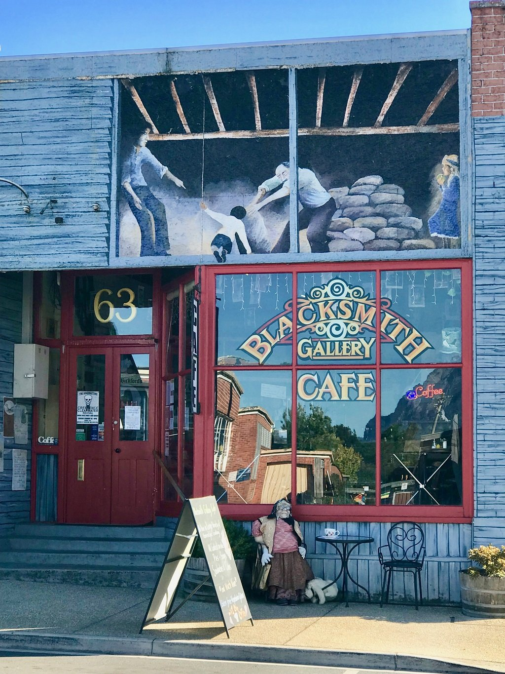 Front of Blacksmith's Cafe