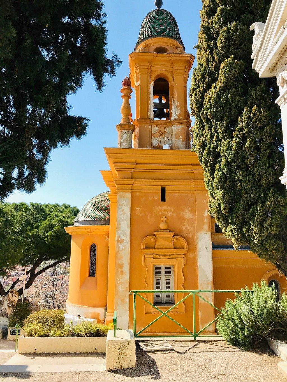 Yellow Church In Nice