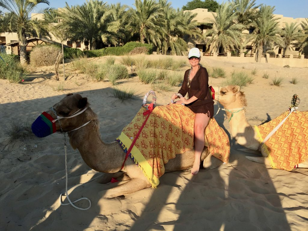 camel ride at bab al shams