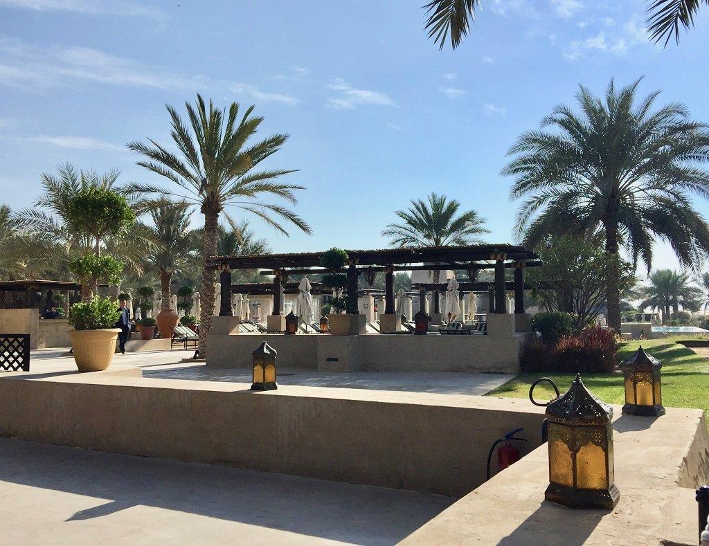 breakfast area at bab al shams