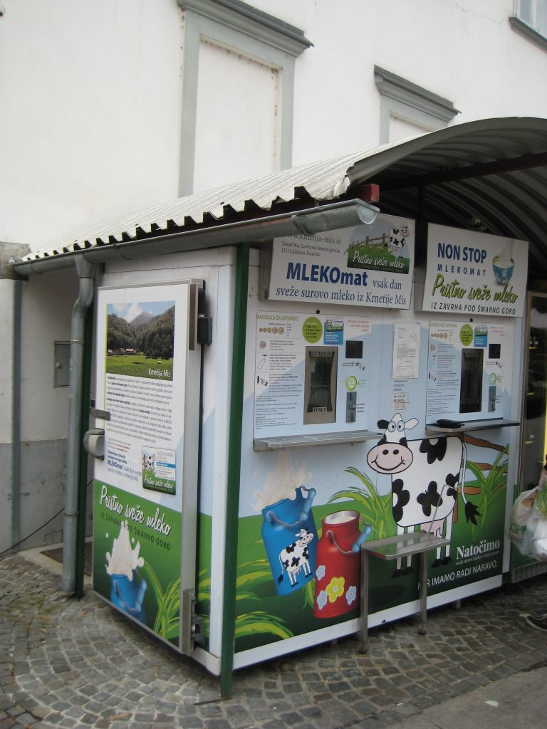 Milk Dispenser in Ljubljana old town