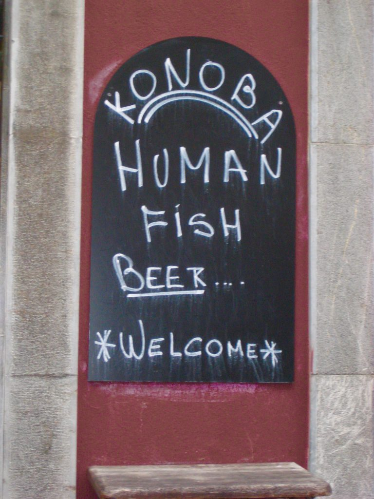 Human Fish Beer Sign Ljubljana