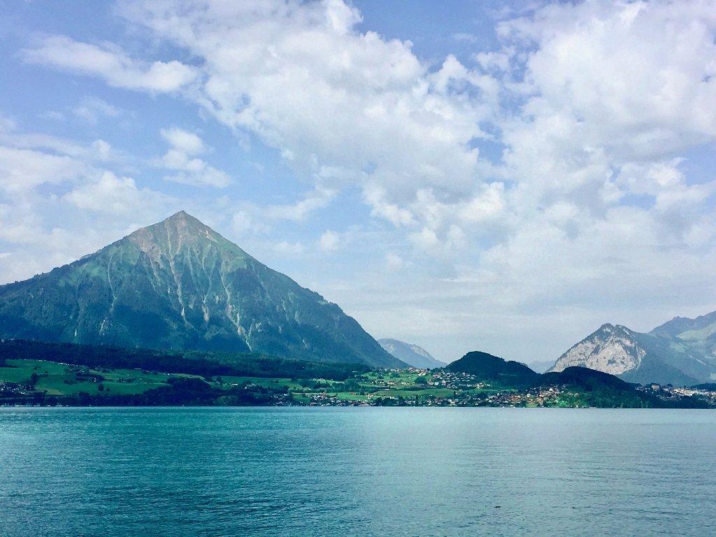Lake Thun and the Bernese Mountains