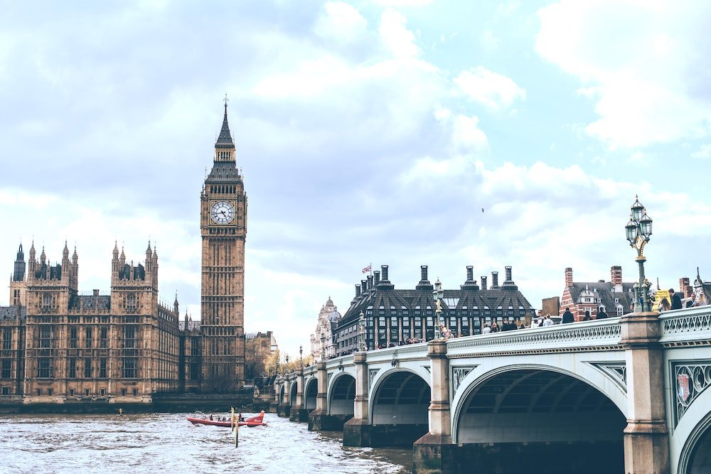 Image of Westminster Bridge and Houses of Parliament
