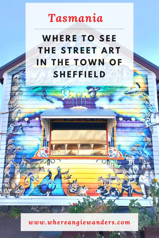 Pinterest Graphic for Sheffield Tasmania