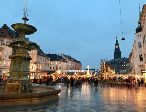 View of Copenhagen Christmas Market