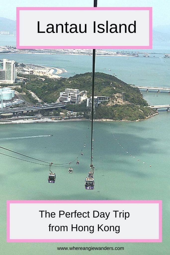 cable car descending over the sea
