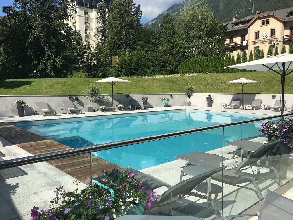 outside pool at Hotel Mont Blanc