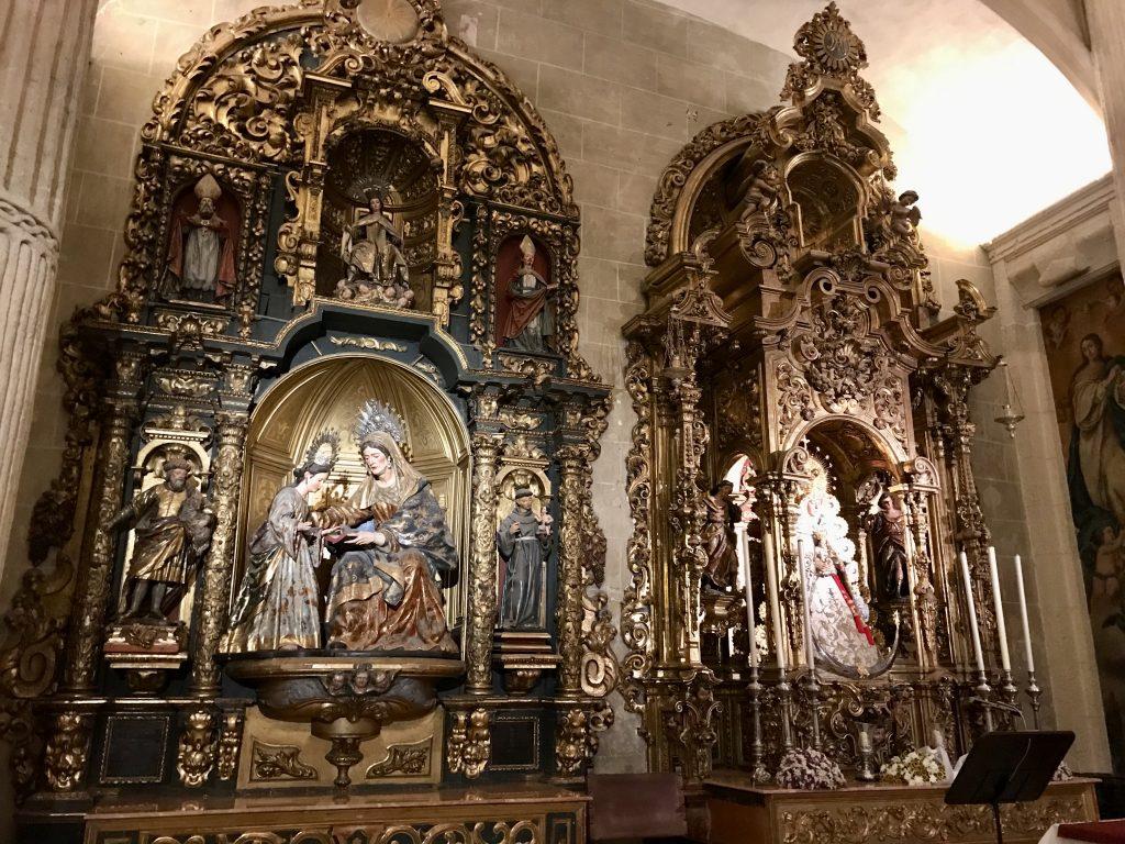 Altar inside church of El Salvador