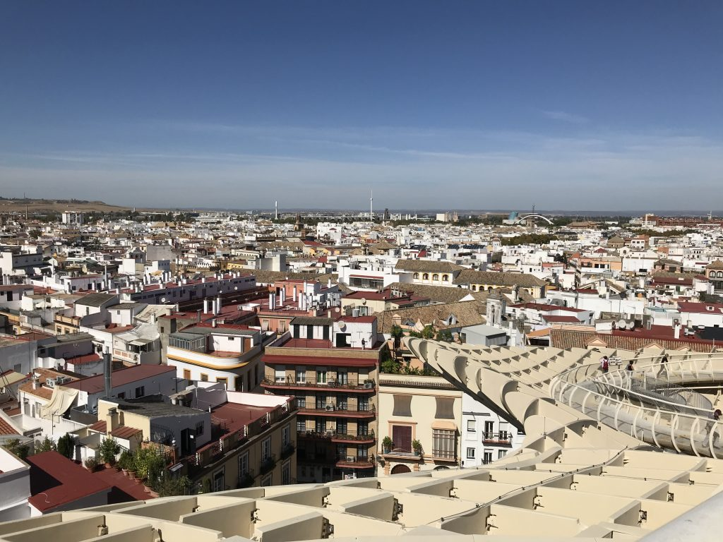 View of Seville from Metropol Parasol