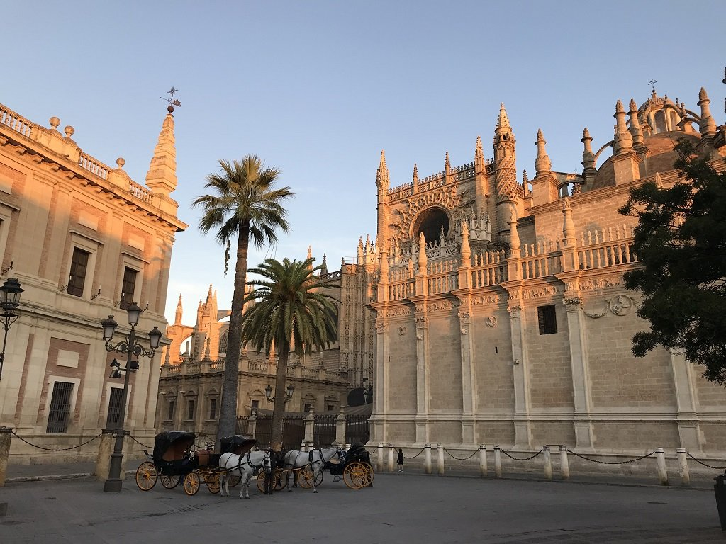 Sunrise over Seville Cathedral