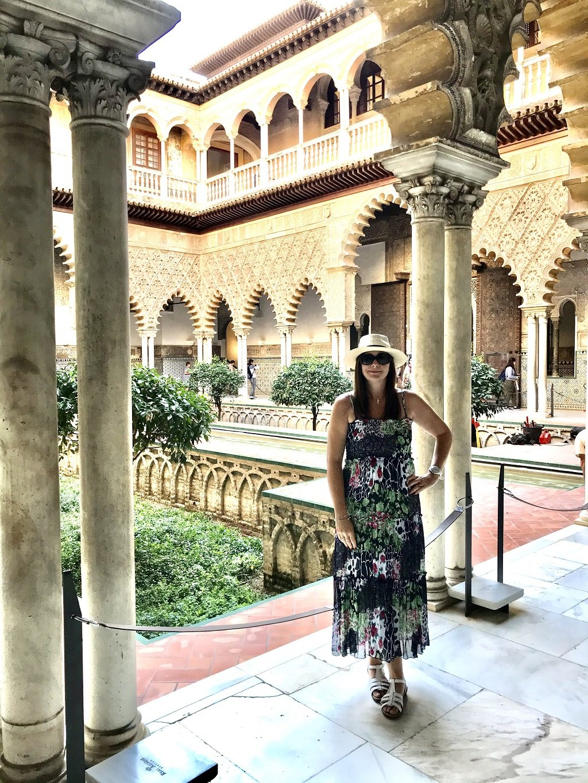 Outside courtyard in alcazar